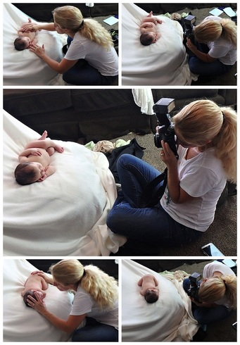 Behind the scenes of Hawkins' newborn session